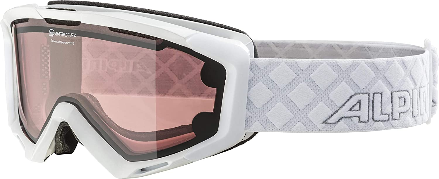 (One Size, White)  Alpina Panoma Magnetic Goggles