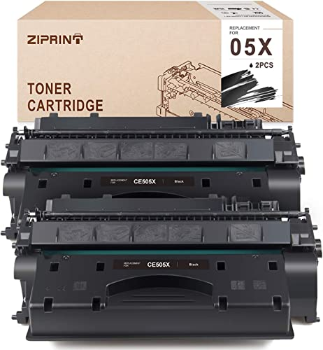 popular ZIPRINT discount Compatible Toner Cartridge Replacement for HP 05X CE505X high quality use for HP Laserjet P2035 P2055dn P2035n P2055d P2055x (Black, 2-Pack) sale