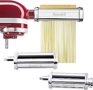 Pasta Roller & Spaghetti Cutter, Fettuccine Cutter Attachment for Kitchenaid Stand Mixer