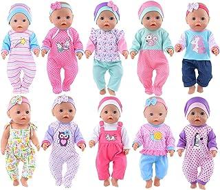 اكسسوارات ملابس مختلفة للدمى من 10 مجموعات من اي بادا تشمل اطواق للشعر لدمى المولود الجديد 43 سم