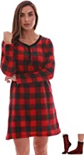 Just Love Women's Ultra-Soft Sleep Shirt Nightgown with Matching Fuzzy Socks