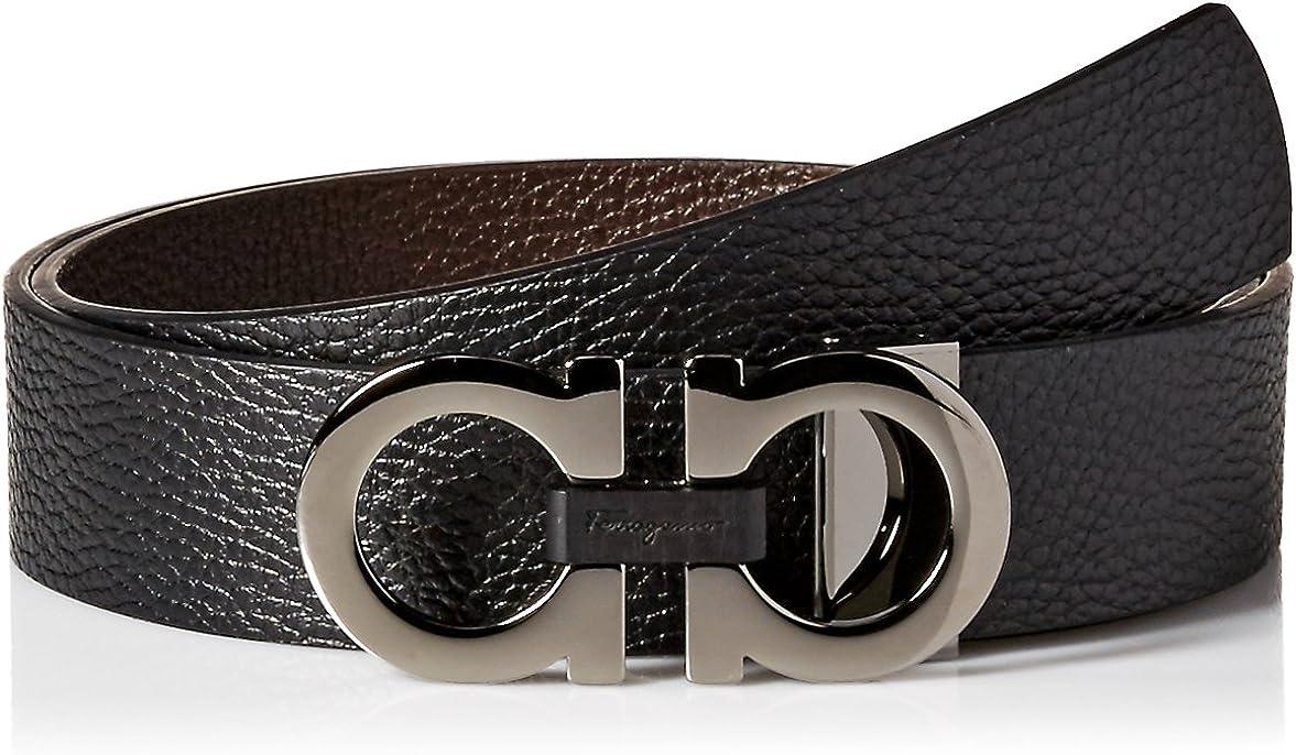 SALVATORE FERRAGAMO Men's Max 77% OFF Belt-678783 Reversible High order Adjustable