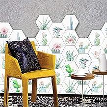 Honeycomb Tile Art Wall Decal Sticker, Impermeable DIY Cocina Baño Piso Hogar Decoración de la habitación Vinilo Wallpaper 1 Set / 10 Piezas 23 x 20cm,D
