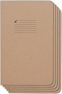 Northbooks Notebook/Journal (5 Pack), 96 College Ruled Pages, Acid Free Sheets, 5x8 | Made In The USA