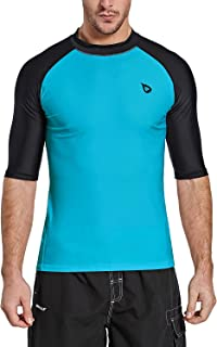 Men's Short Sleeve Rashguard Swim Shirt UV Sun Protection UPF 50+