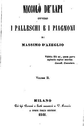 Niccolò DeLapi, Ovvero, I Palleschi E I Piagnoni - Vol. II