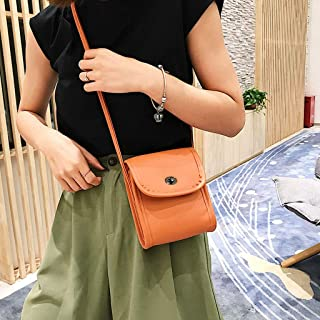 Cross Body Handbags Korean version of the wild mobile phone bag mini bag handbags new summer fashion tide simple shoulder Messenger bag (Color : Orange)
