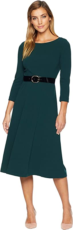 Belted Midi Dress w/ Sleeves CD8C14QG