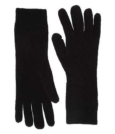 J.Crew Supersoft Easy Ribbed Gloves (Black) Dress Gloves