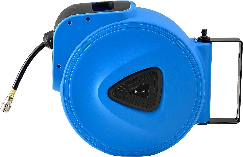 Pro-Tec Druckluft Schlauchaufroller Anschluss 1//4 Automatik Schlauchtrommel Arbeitsdruck 8 bar Druckluftschlauchtrommel Abroller 10m 1 m Zuleitung
