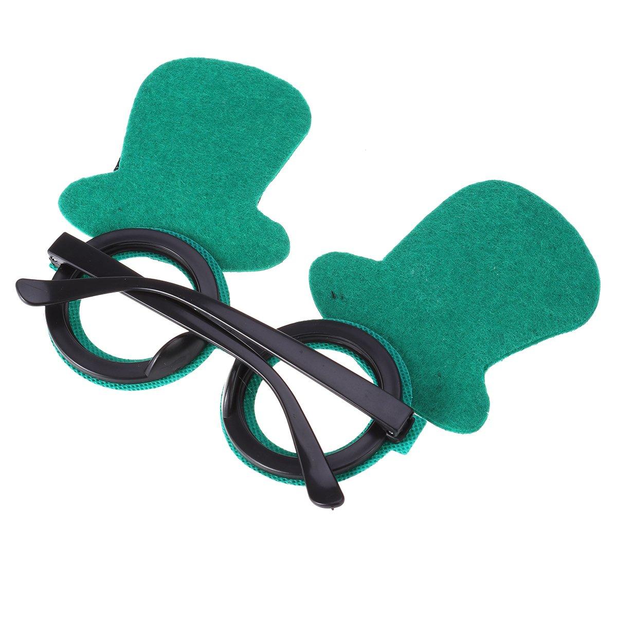 LUOEM Disfraz San Patricio Gafas Divertidas para Fiestas Gorro ...