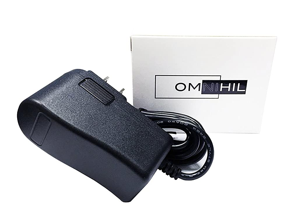 OMNIHIL 8FT AC/DC Adapter and 10FT Extension Cord Compatible with Infant Optics DXR-8 2AAAM-DXR-8BU P/N: CS6D059100FU Digital Video Camera Monitor (Camera Unit Only)