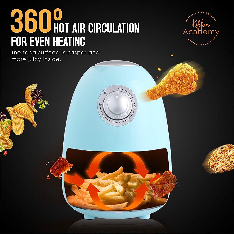 Kitchen Academy Max 64% OFF 1.8 QT 5 popular Electric Air - Non Blue Stick Aqua Fryer