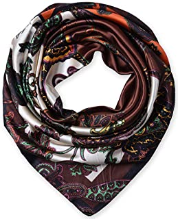 Corciova Square Stain Silk Like Hair Wrapping Scarves Night Sleeping Head Scarf