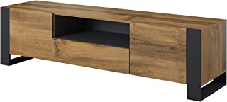BIM Furniture NUNKI - Mueble para televisor (180 cm Roble) Color Gris Oscuro
