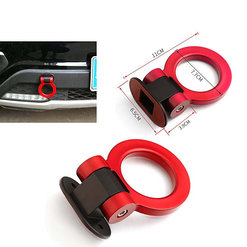 DTOUCH Racing IS-07220 Universal ABS Red Bumper Car Sticker Adorn Car Dummy Tralier Tow Hook Kit Car Series of Exterior Auto Accessories