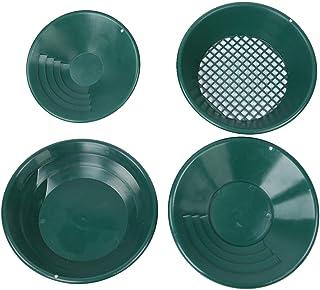 Gold Pan, 4 van groene mijnbouw zwaartekracht catcher gouden pan tray kit mijnzoekdetector