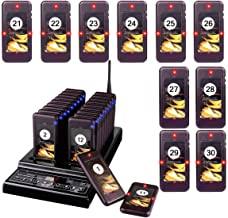 Retekess T112 Wireless Calling System Paging System Restaurant Paging Systems Max 999 Pager Paging System with 30 Pagers for Restaurants Church Clinic