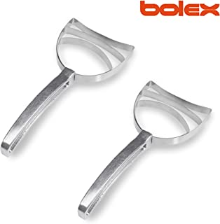 BOLEX Professional Square stainless steel Bone Dust Scraper- Catering kitchenware Square Bone Dust Remover (2 pack)