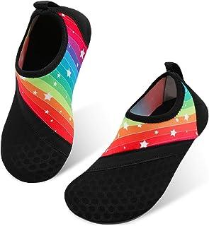 JIASUQI Kids Boys Girls Quick Dry Athletic Water Shoes Aqua Socks for Beach Swimming Pool