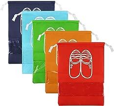 CHRISLZ Travel Shoes Bag Finishing Bag Dustproof Shoes Storage Bag Bundle Pocket Drawstring Organizer Bag (5-color-M)