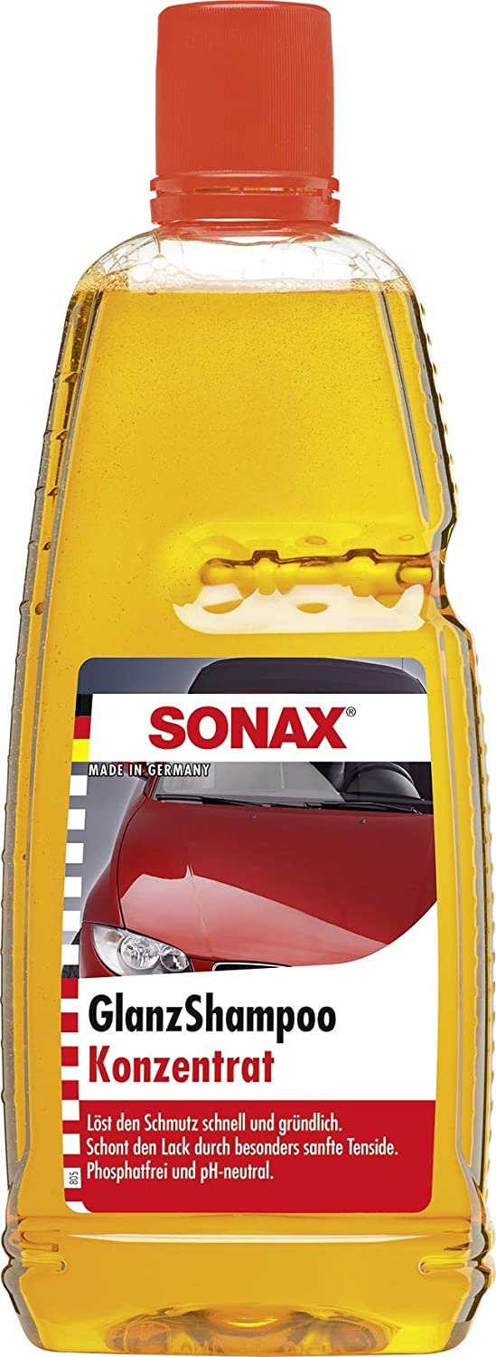 Sonax 314300 Jacksonville Mall Gloss Shampoo Yellow High quality new Concentrate 1L -