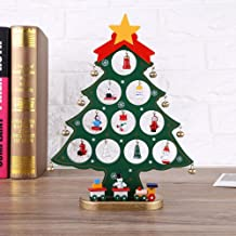 Wooden Christmas Tree with Hanging Ornament Christmas Decoration 1 Piece (Green)
