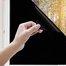 Uiter Vinilo Negro Película para Ventanas - Bloquear 100% del Luz Privacidad Auto-Adhesivo Película, Anti-UV Calor para Las Cristal de tu Dormitorio u Oficina (90 * 200cm)