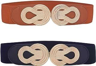 HaoPiDai Women Belts For Dresses Elastic Fashion Belts For Women Coat Sweater Shrink Your Jacket Waistline Perfectly