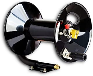REELWORKS Hand Crank AirCompressor Hose Reel Without Hose Reinforced Steel Construction Heavy Duty Compressor