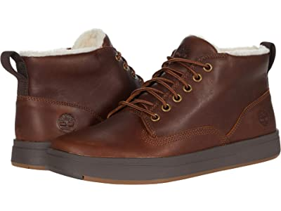 Timberland Davis Square Warm Lined Chukka (Rust Lite Leather Full Grain) Men