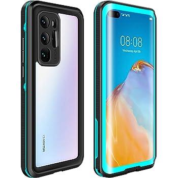 ODLICNO Funda para Huawei P40 Pro,IP68 Funda Impermeable,Protección Completa de 360 Grados, Carcasa a Prueba de Caídas, Nieve,Golpes,Resistente al Agua,Funda Protectora de Cuerpo Completo para Huawei P40 Pro(Azul)