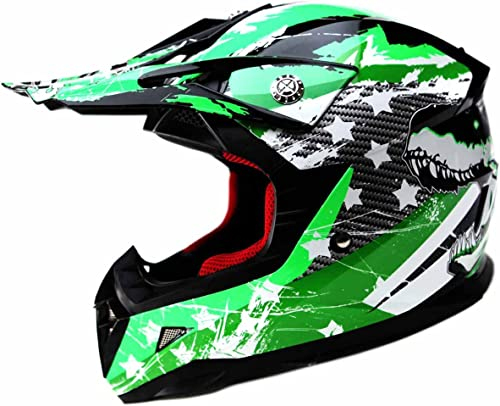 deportes calientes YEMA Casco Casco Casco Motocross Niño ECE Homologado YM-211 Casco de Moto Infantil Cross Integral Enduro Infantil para mujer Hombre Adultos, M  auténtico