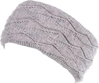 530e25a3b82 BYOS Womens Chic Cold Weather Enhanced Warm Fleece Lined Crochet Knit  Stretchy Fit