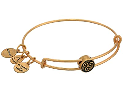 Alex and Ani Triskelion Symbol Bead Charm Bangle (Rafaelian Gold) Bracelet