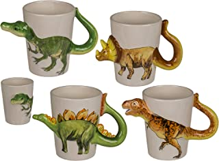 Fantastic Collectible 3D Dinosaur Mug - Tyranasaurus Rex - Stegosaurus - Velociraptor - Triceratops (Velociraptor)