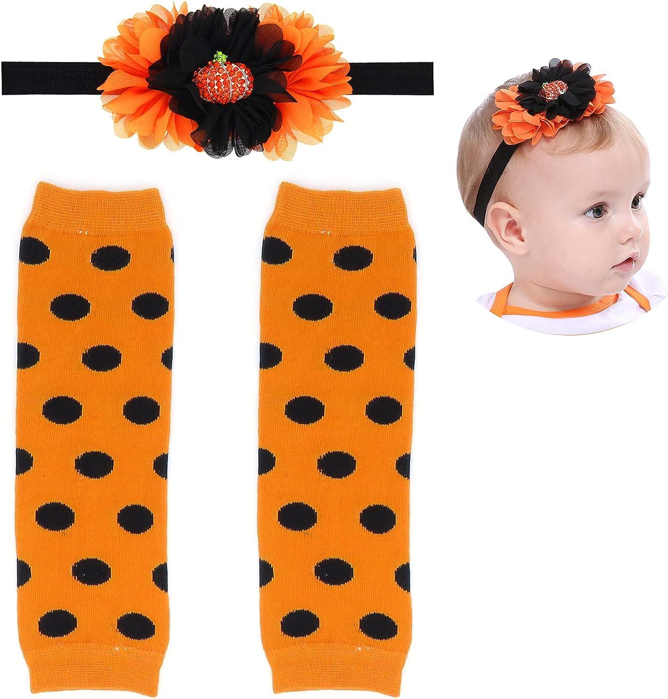 Elesa Miracle Cozy Soft Baby Toddler Leg Warmers and Headband Set