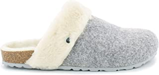 Bayton Maik Mens Slippers, Make Grey Fur, 6