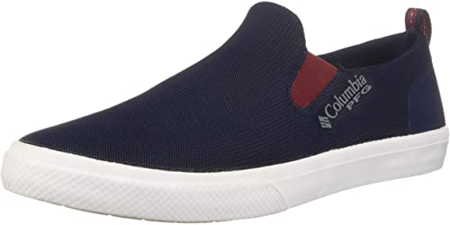 Columbia Men's Dorado Slip Pfg Turnschuhe, Collegiate Navy, rot Element, 7 Regular US