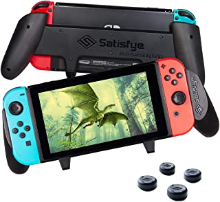 Satisfye - Accessories Compatible with Nintendo Switch - Comfortable & Ergonomic Switch Grip, Joy Con & Switch Control - #1 Switch Accessories Designed for Gamers. FREE BONUS: 4 Thumbsticks