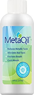 Sponsored Ad - MetaQil Oral Rinse 8oz Bottle - Clinically proven to Relieve Metallic Taste, bitter taste and unpleasant ta...