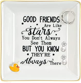 Best Friends Gifts for Women Ring Dish Trinket Good Friends are Like Stars You Don't Always See Them But You Know They're ...