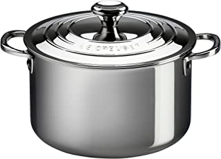 Le Creuset Tri-Ply Stainless Steel Casserole with Lid, 4-Quart
