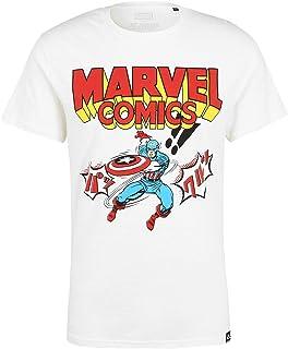 Marvel Comics Capitán América Japón crudo camiseta por Re:Covered
