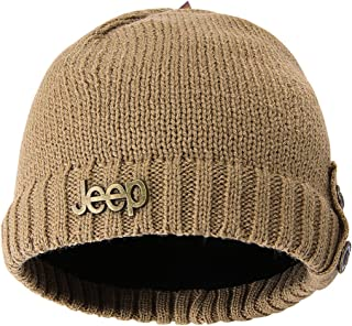 068dea7bb75 Jeep Winter Warm Knit Skull Beanie Hat with Fleece Inner for Both Men and  Women Knit