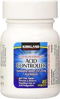 Kirkland Signature Maximum Strength Acid Controller, Famotidine Tablets USP, 20 mg, 85-Count (Pack of 2)