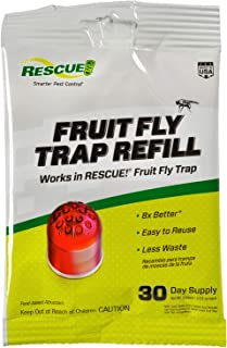 RESCUE Non-Toxic Fruit Fly Trap Attractant Refill, 30 Days