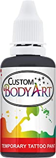 Custom Body Art 1-Ounce Black Temporary Airbrush Tattoo Body Art Paint Alcohol Based