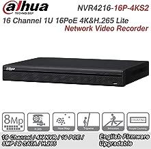 Dahua NVR4216-16P-4KS2 16 Channel 1U 16PoE 4K&H.265 Lite Network Video Recorder Original English Version(Support Firmware upgrade)