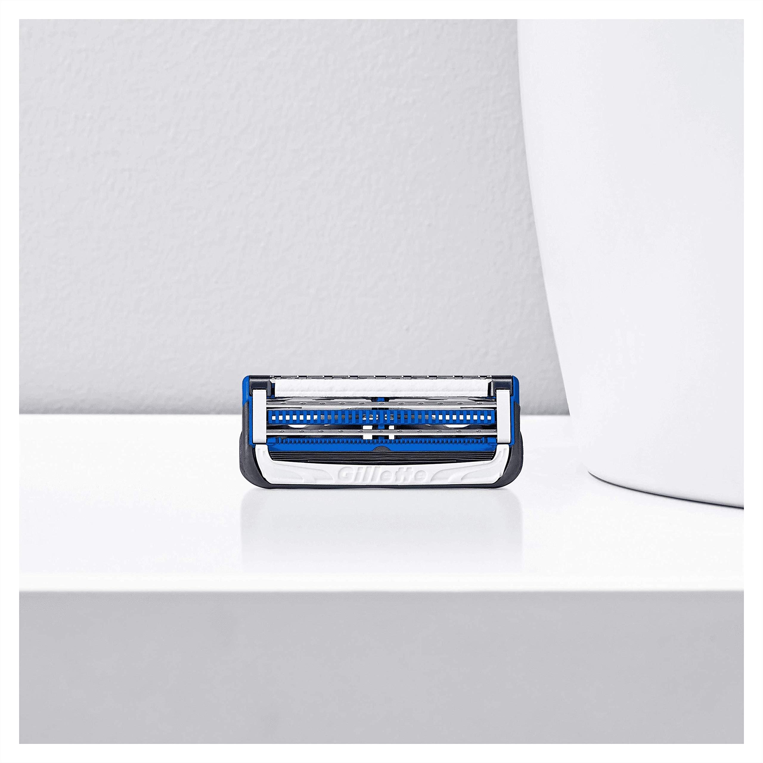 Gillette Gift Set with SkinGuard White Razor Premium Edition for Men + Magnetic Razor Stand